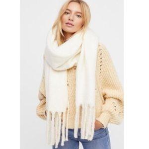 free people white ivory brushed kennsington scarf